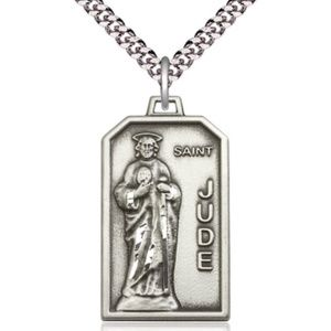 Sterling Silver St Jude Pendant